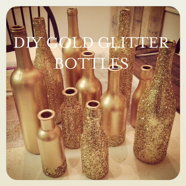 How To Diy Gold Glitter Centerpiece Bottles Delightful