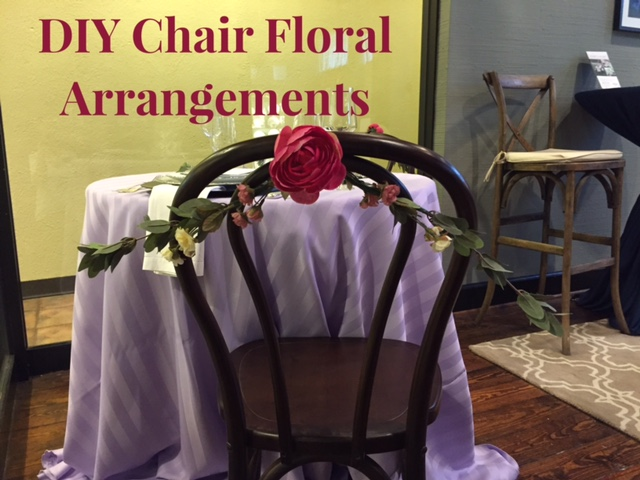 DIY Chair Floral Arragement Tutorial