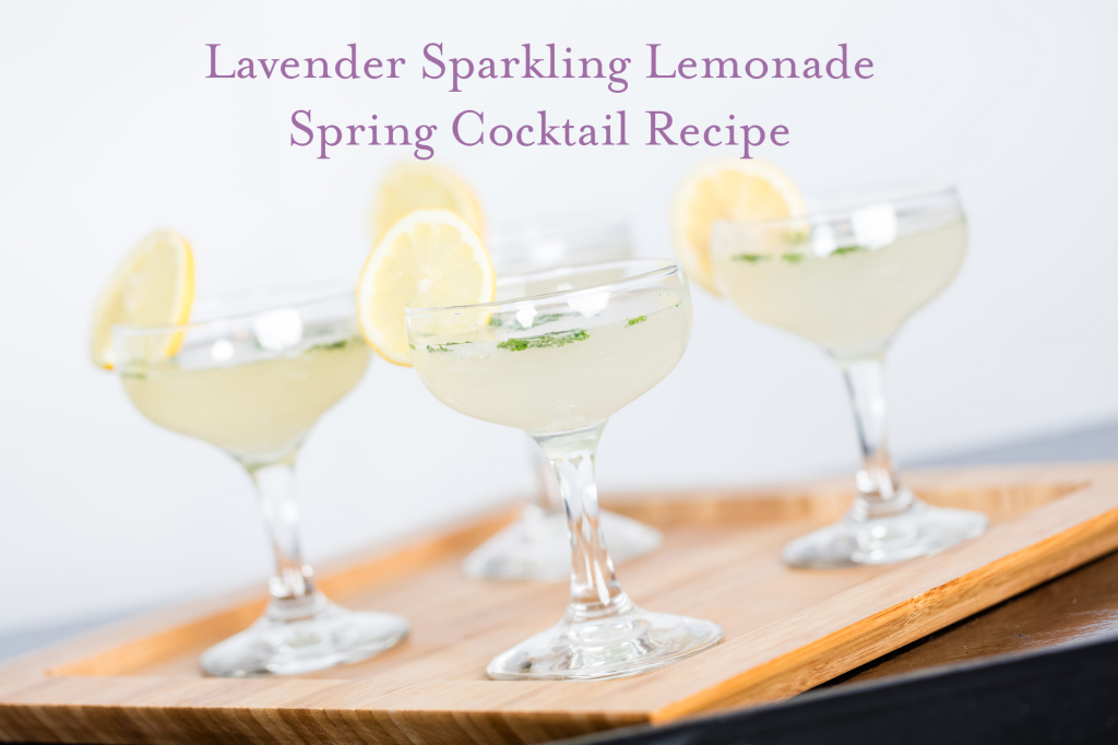 Lavender Sparkling Lemonade Spring Cocktail Recipe